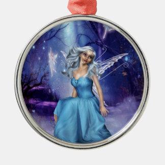 Träumen der Feen Rundes Silberfarbenes Ornament