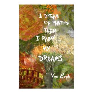Träumen der grauen und orange Rosen Briefpapier