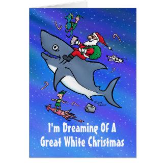 Träumen der großen weißes Weihnachtskarte Karte