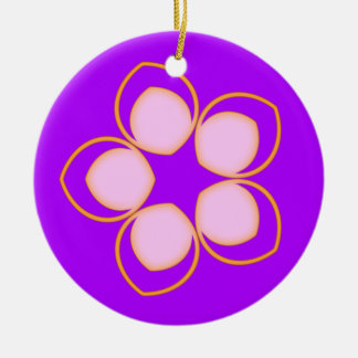 Träumen der Lotosanime-Blume Rundes Keramik Ornament