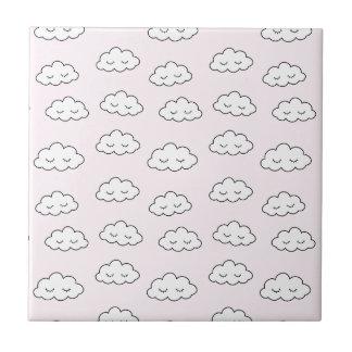 Träumen der Wolken im Rosa Keramikfliese