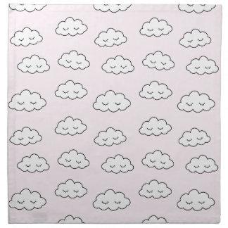 Träumen der Wolken im Rosa Serviette