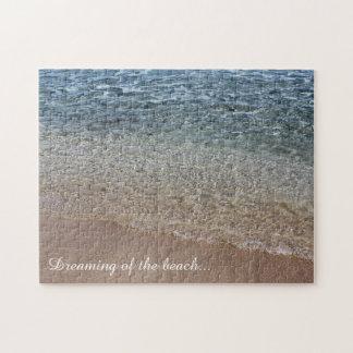 Träumen des Strand-Puzzlespiels Puzzle