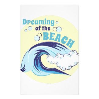 Träumen des Strandes Briefpapier