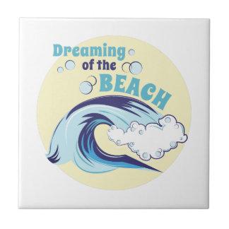 Träumen des Strandes Fliese
