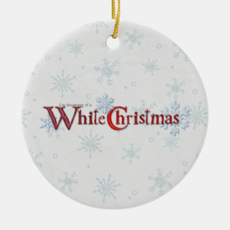Träumen des Weihnachtsschnees Ornamente