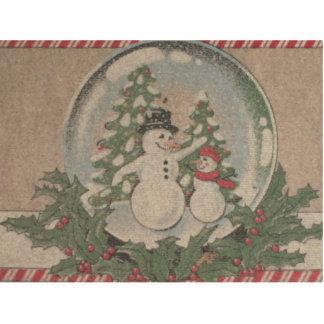 Träumen einer weißes Weihnachtsverzierung Fotoskulptur Ornament