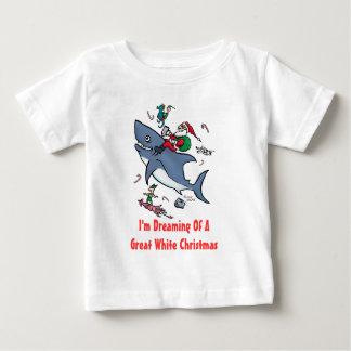 Träumen eines Hai-Weihnachten Baby T-shirt