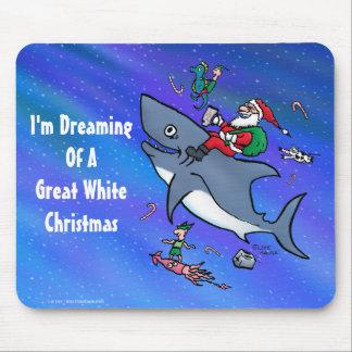 Träumen eines Hai-Weihnachten Mauspads