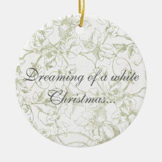 Träumen eines weißen Weihnachten… Rundes Keramik Ornament
