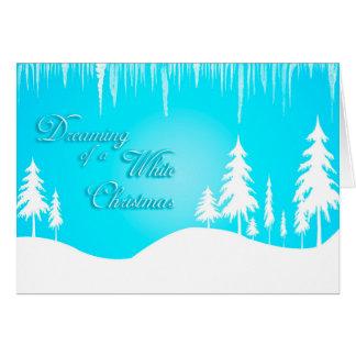 Träumen eines weißen Weihnachten (Weihnachten) Karte