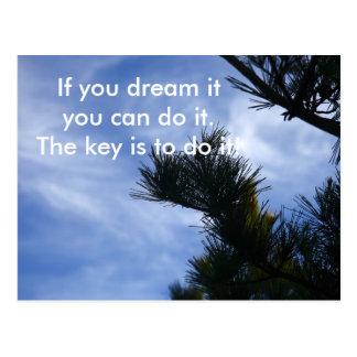 Träumen Sie es Postkarte