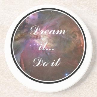 Träumen Sie es, tun Sie es - Raum Sandstein Untersetzer