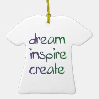 Träumen Sie, inspirieren Sie, stellen Sie Ornamente
