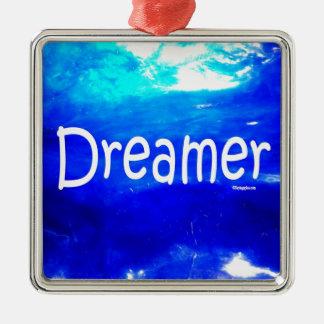 Träumer Quadratisches Silberfarbenes Ornament