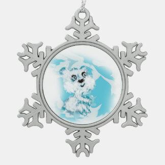 Träumer Schneeflocken Zinn-Ornament