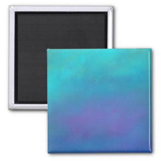Träumerische Blues-abstrakter Entwurf Quadratischer Magnet
