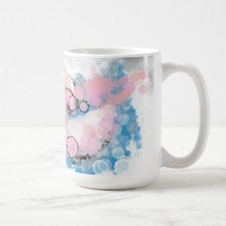 Träumerische graue, rosa und blaue Tasse