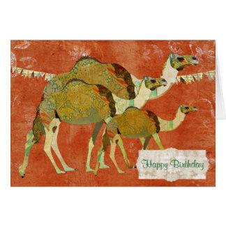 Träumerische Kamel-verzierte bernsteinfarbige Karte