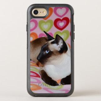Träumerische siamesische Katzen-Herzen OtterBox Symmetry iPhone 8/7 Hülle