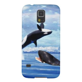 Träumerische Wale im Spaß und im Spiel Samsung Galaxy S5 Hülle