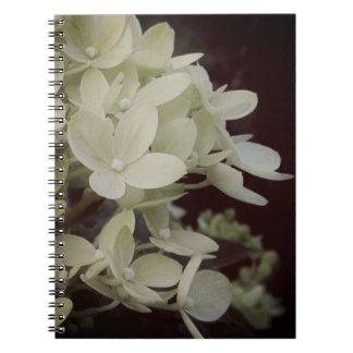 Träumerischer Hydrangea mit Blumen Spiral Notizblock