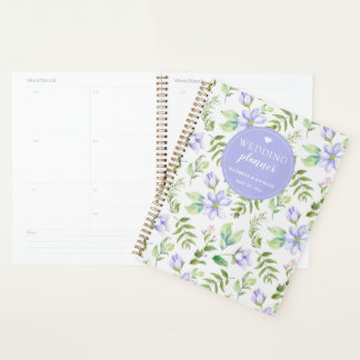 Träumerischer lila Blumengarten-Hochzeits-Planer Planer