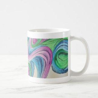 Träumerischer Watercolor mit der Kaffeetasse
