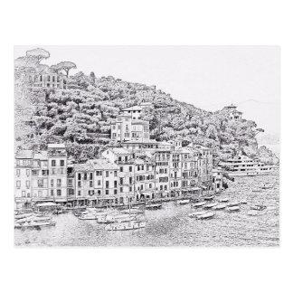 Träumerisches romantisches Portofino, Postkarte