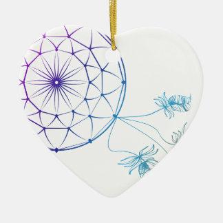 Traumfänger auf weißem Hintergrund Keramik Herz-Ornament