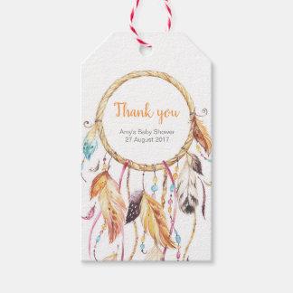 Traumfänger danken Ihnen etikettiert | Geschenkanhänger