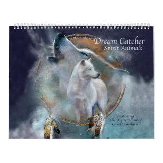 Traumfänger-Geist-Tier-Kunst-Kalender Kalender