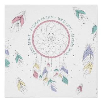 Traumfänger-Plakat-immer Traum Poster
