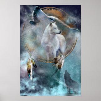 Traumfänger Reihe-Geist Wolf-Plakat/Druck Poster