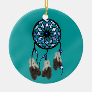 Traumfänger Rundes Keramik Ornament