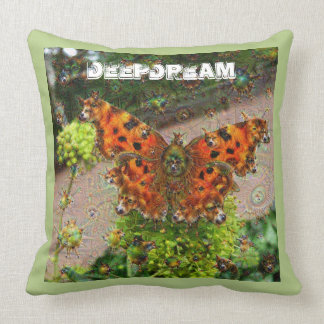 Traumgeschöpfe, Schmetterling, DeepDream Kissen