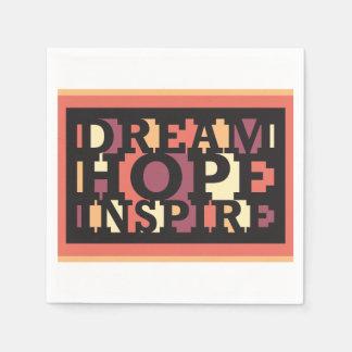 Traumhoffnung inspirieren - Wörter der Inspiration Papierserviette