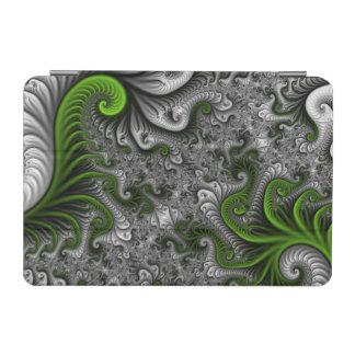 Traumwelt-grüne und graue abstrakte Fraktal-Kunst iPad Mini Hülle