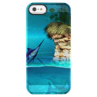 Traumwelt mit Speerfisch Durchsichtige iPhone SE/5/5s Hülle