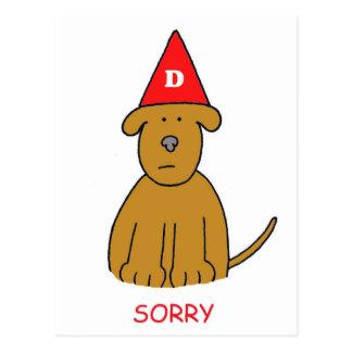 Traurig bin ich ein Idiot, verzeihe mir gewesen Postkarte