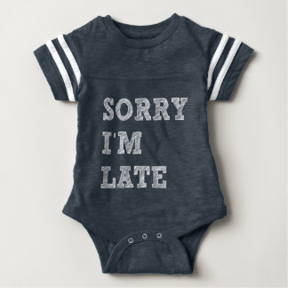 Traurig bin ich spät baby strampler