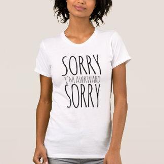 Traurig bin ich ungeschicktes trauriges T-Shirt