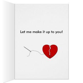 Traurig brach ich Ihr Herz Karte