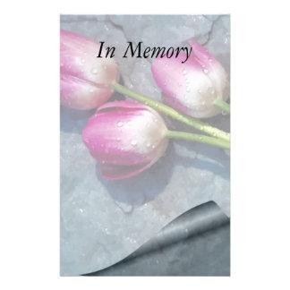 Traurig für Ihre Verlust-Rosa-Tulpen Briefpapier