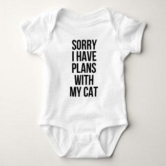 Traurig habe ich Pläne mit meiner Katze Baby Strampler