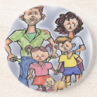 Traurige Familie Getränkeuntersetzer