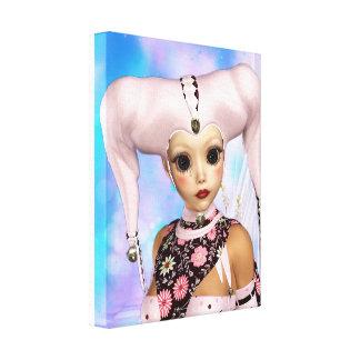 Traurige Harlekin-Puppe Leinwanddruck