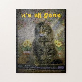 Traurige Katze, Cheeseburger ganz gegangen Puzzle