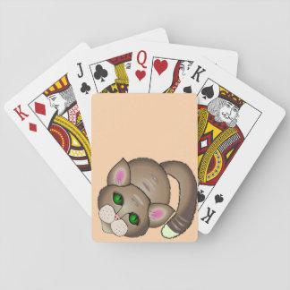 Traurige Katze Spielkarten