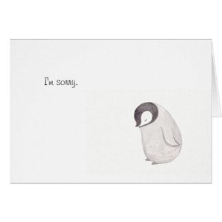 Traurige niedliche Penguin-Karte durch Mika-Kunst Mitteilungskarte